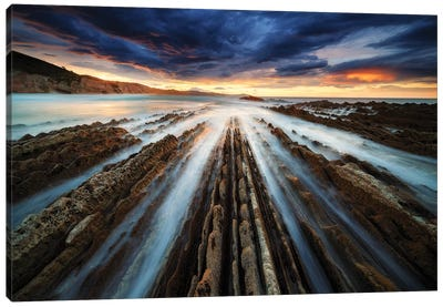 Zumaia Flysch Canvas Art Print