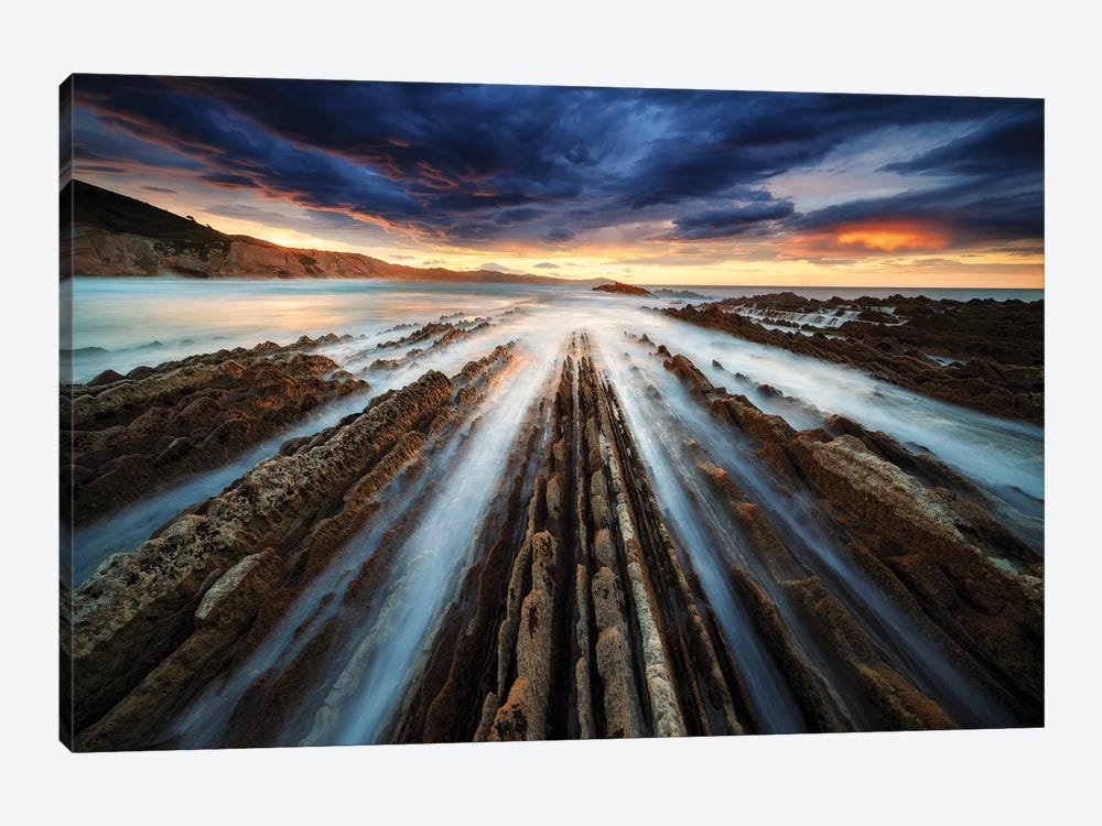 Zumaia Flysch by Juan Pablo de Miguel 1-piece Canvas Art