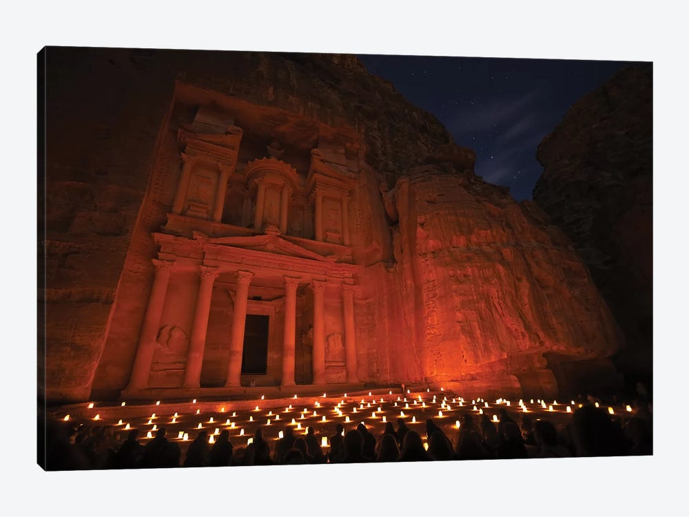 Treasury By Night by Karsten Wrobel 1-piece Canvas Wall Art