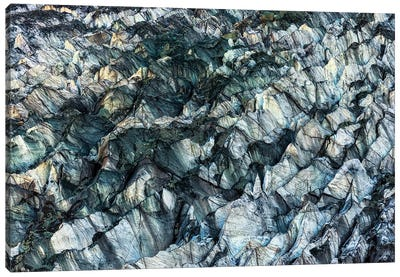 Ice Texture In Hopper Glacier Canvas Art Print