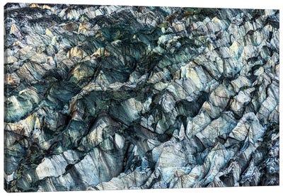 Ice Texture In Hopper Glacier Canvas Art Print