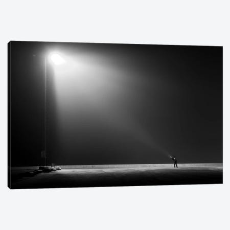 Big Vs. Small Canvas Print #OXM3729} by Leif Londal Canvas Art