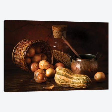 Onions And Pumpkin Canvas Print #OXM3755} by Luiz Laercio Canvas Art