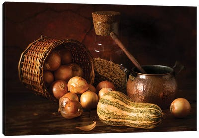 Onions And Pumpkin Canvas Art Print