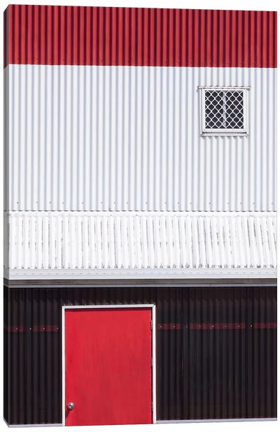 Red White Black Canvas Art Print