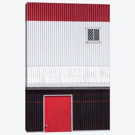 Red White Black Canvas Print #OXM375} by Jacqueline Hammer Art Print