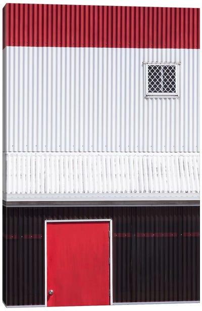 Red White Black Canvas Art Print