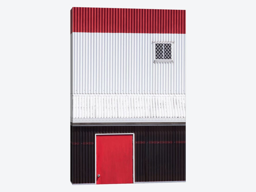 Red White Black by Jacqueline Hammer 1-piece Canvas Art Print