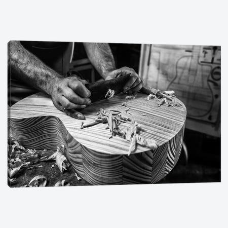 Le Luthier Canvas Print #OXM3771} by Manu Allicot Canvas Art Print