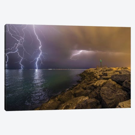 When Lightning Strikes Canvas Print #OXM3828} by Mehdi Momenzadeh Canvas Art Print