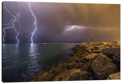 When Lightning Strikes Canvas Art Print