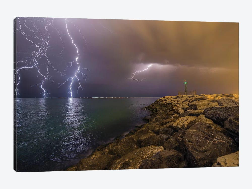 When Lightning Strikes by Mehdi Momenzadeh 1-piece Canvas Wall Art