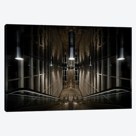 Into The Abyss Canvas Print #OXM3839} by Michiel Hageman Canvas Artwork