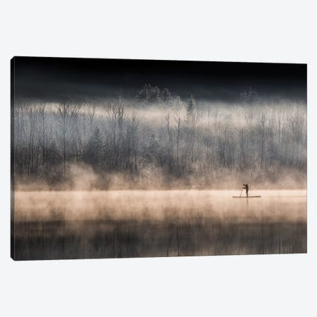 Suping On Bohinj Lake Canvas Print #OXM3841} by Miha Pavlin Art Print