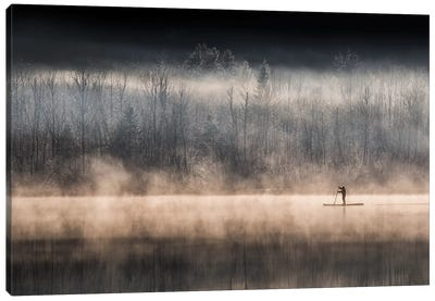 Suping On Bohinj Lake Canvas Art Print