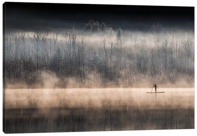 Suping On Bohinj Lake Canvas Art Print