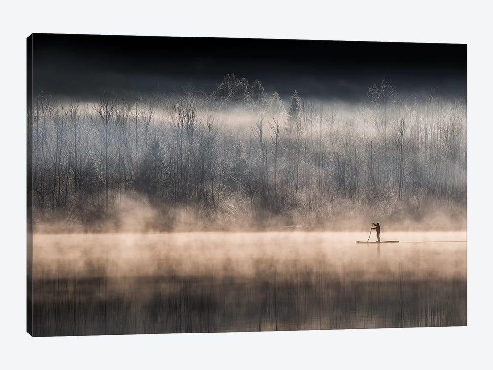 Suping On Bohinj Lake by Miha Pavlin 1-piece Canvas Art Print