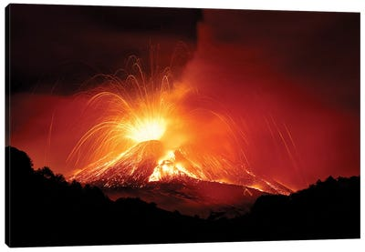 Monte Etna Canvas Art Print