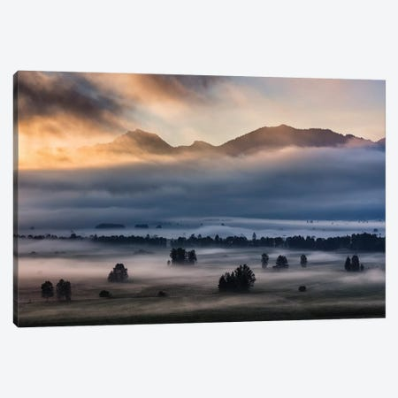 Autumn Morning... Canvas Print #OXM3880} by Nina Pauli Art Print