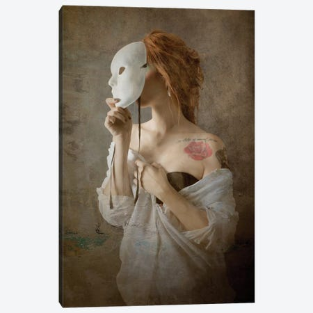 Seeing Through The Mask Canvas Print #OXM3894} by Olga Mest Canvas Art Print