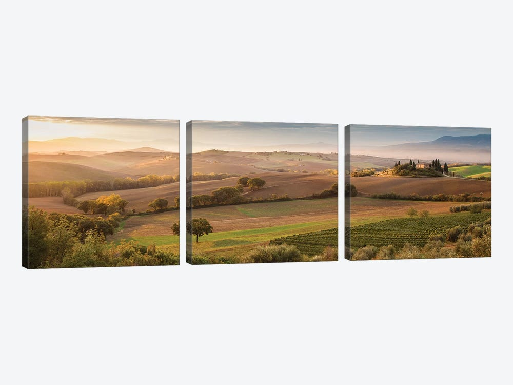 Fairyland At Dawn by Peter Svoboda 3-piece Canvas Wall Art