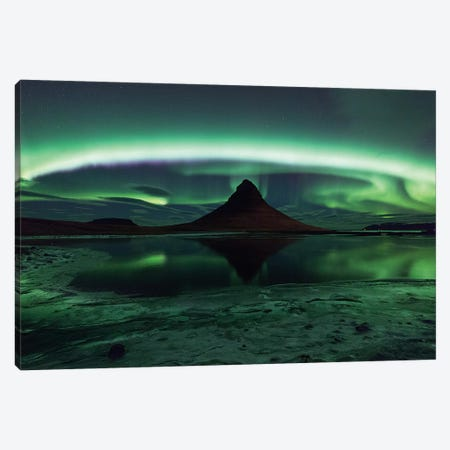 Kirkjufell Aurora Canvas Print #OXM3931} by Philip Eaglesfield Canvas Print