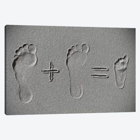 Sand Arithmetic 3-Piece Canvas #OXM3932} by Philnormanphoto Canvas Print