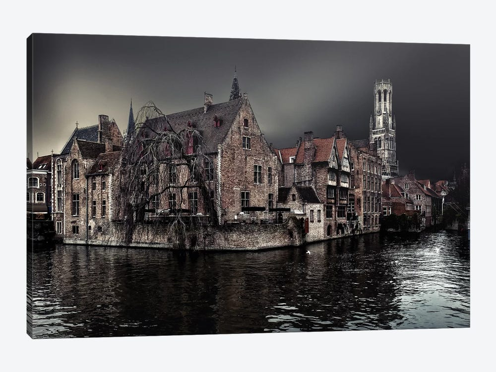 The Darkness Of Winter Cold by Piet Flour 1-piece Canvas Print