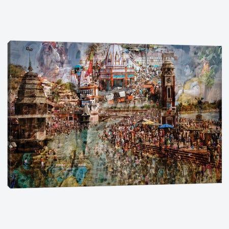 Holy India Canvas Print #OXM3969} by Ralf Kayser Canvas Wall Art