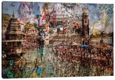Holy India Canvas Art Print