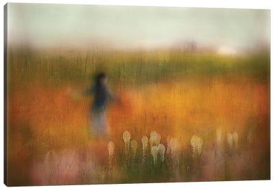 A Girl And Bear Grass Canvas Art Print