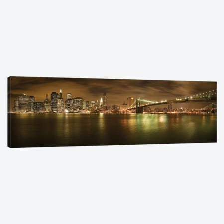 New York Skyline Canvas Print #OXM4036} by Shubhra Pandit Canvas Art