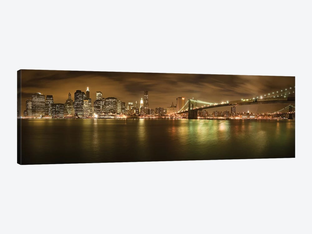 New York Skyline by Shubhra Pandit 1-piece Canvas Art