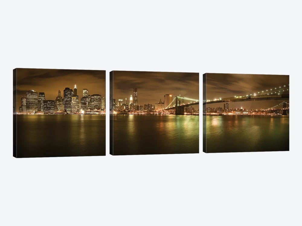 New York Skyline by Shubhra Pandit 3-piece Canvas Artwork