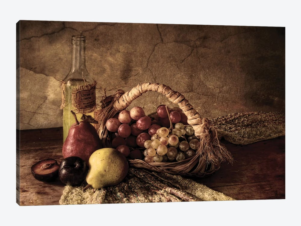 Grapes by Silvia Simonato 1-piece Canvas Print