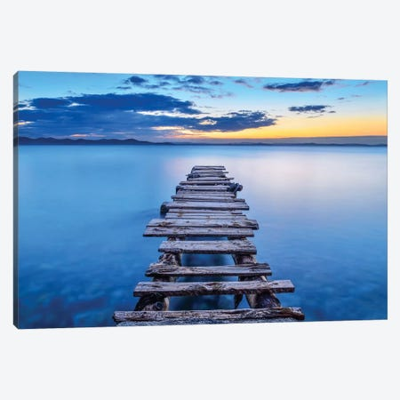 Pier Canvas Print #OXM4043} by Srecko Jubic Canvas Art
