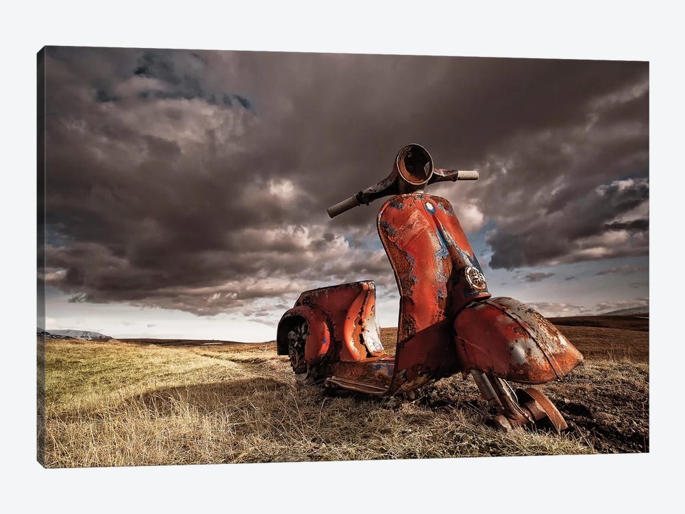 Vespa 1-piece Canvas Art