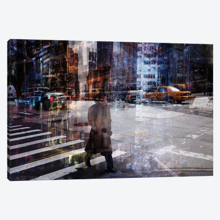 Woody Allen Crossing Canvas Print #OXM4088} by V B Canvas Art