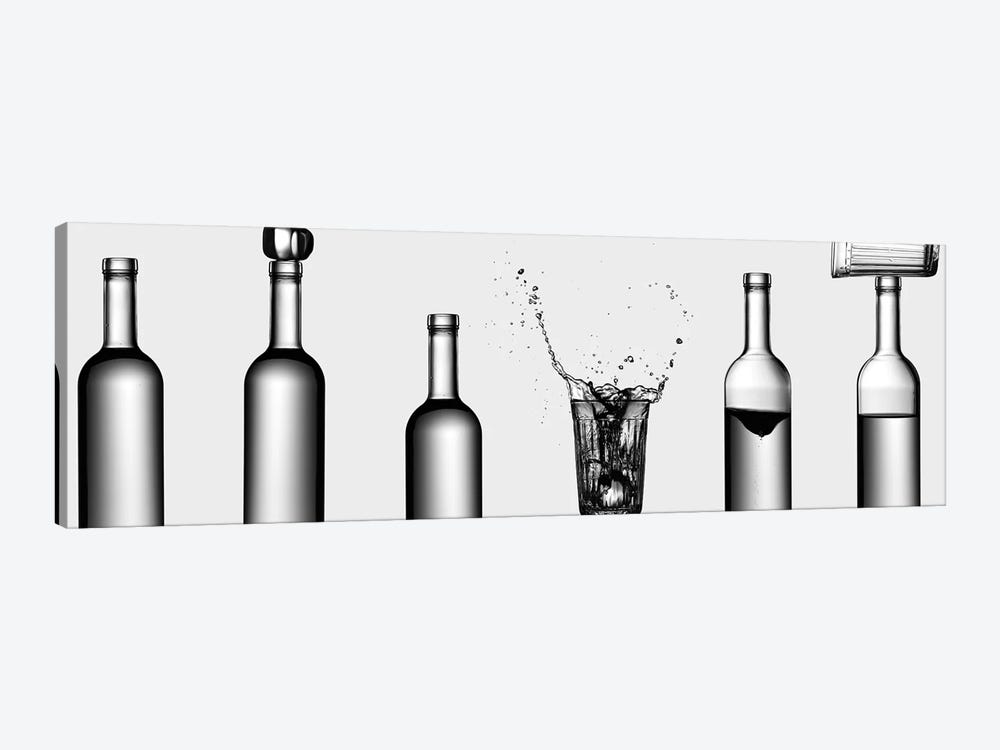 Bottles Game by Valeriy Kasmasov 1-piece Art Print