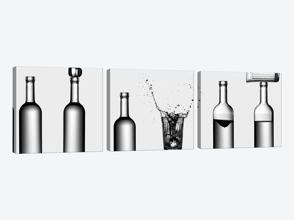 Bottles Game by Valeriy Kasmasov 3-piece Canvas Print