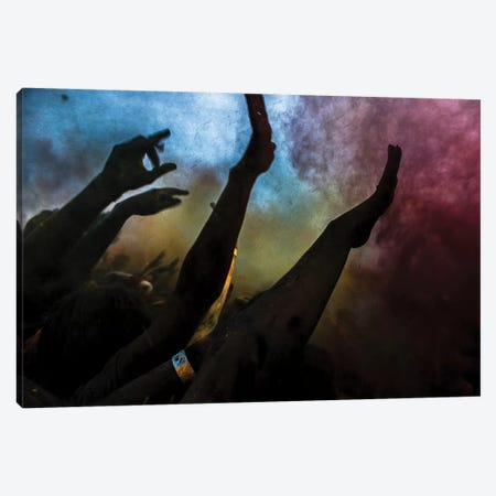 Holi Festival Of Colours Canvas Print #OXM4108} by Vyacheslav Klimentyev Canvas Print