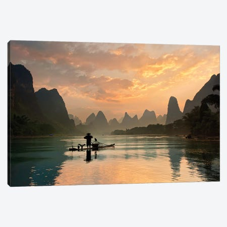 Golden Li River Canvas Print #OXM4124} by Yan Zhang Canvas Artwork