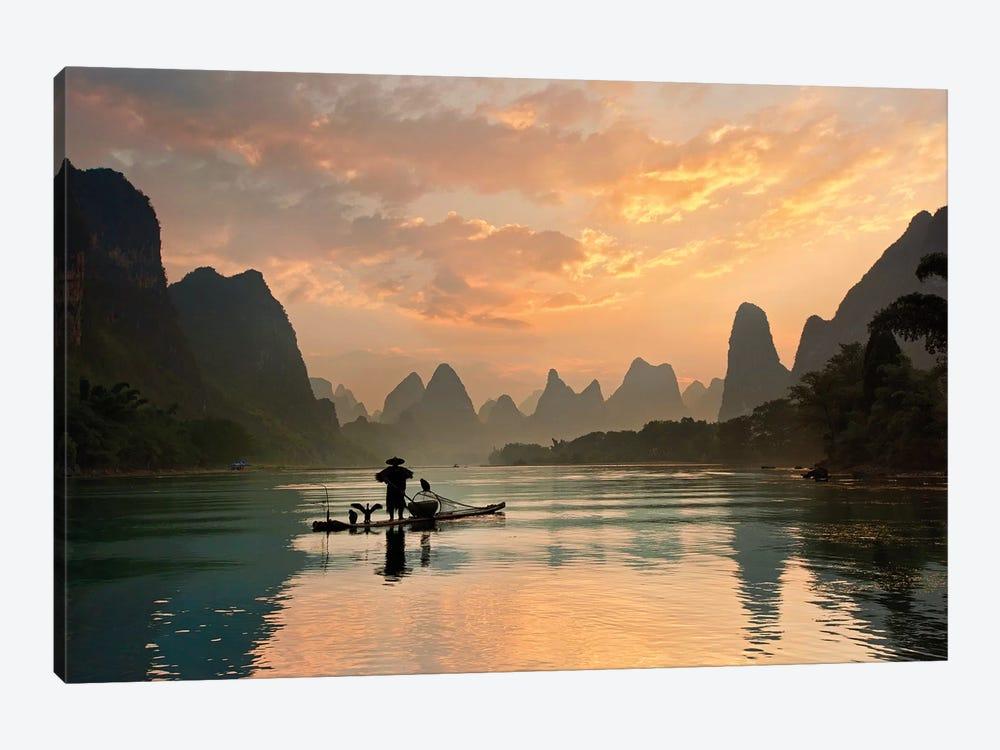 Golden Li River by Yan Zhang 1-piece Canvas Artwork