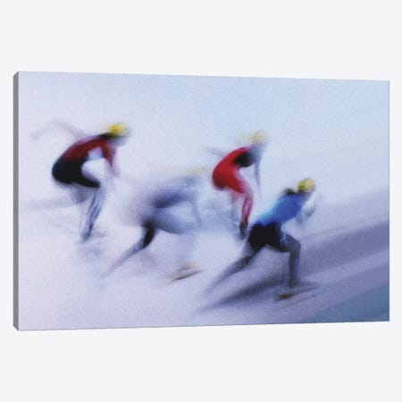 Speed Skating I Canvas Print #OXM4144} by Zoran Milutinovic Canvas Artwork
