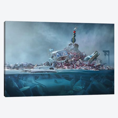 Destruction Of The Environment 3-Piece Canvas #OXM4150} by Sulaiman Almawash Canvas Artwork