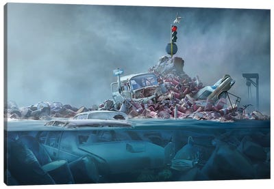 Destruction Of The Environment Canvas Art Print