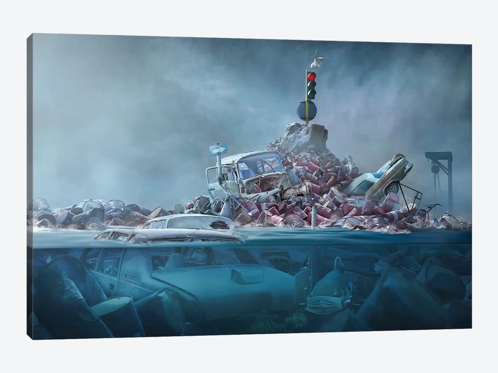 Destruction Of The Environment by Sulaiman Almawash 1-piece Canvas Art Print
