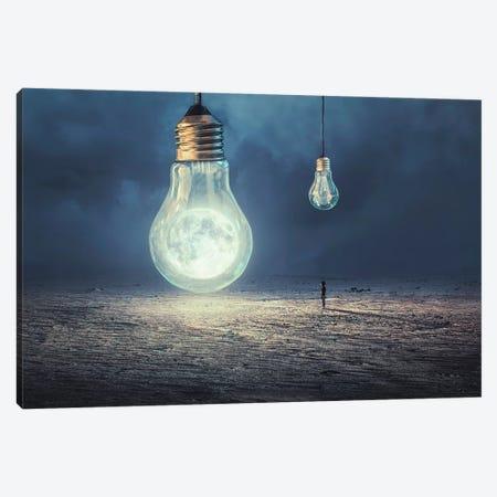 Moon Lamp Canvas Print #OXM4155} by Sulaiman Almawash Art Print