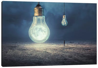 Moon Lamp Canvas Art Print