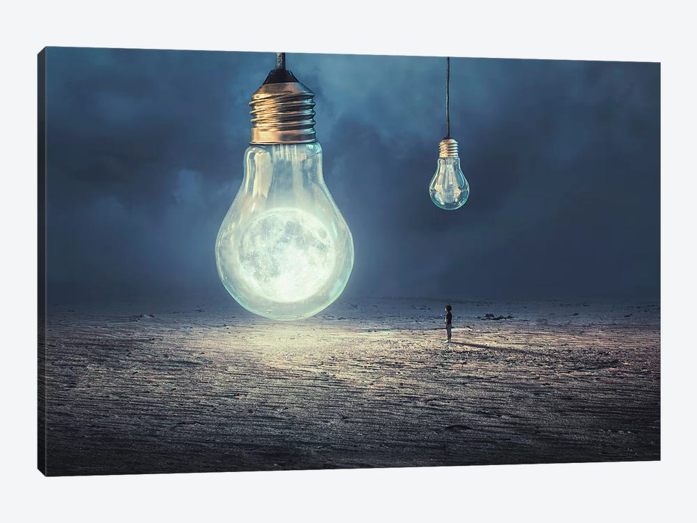 Moon Lamp by Sulaiman Almawash 1-piece Canvas Artwork